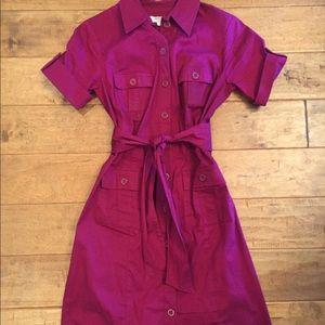 Cranberry shirt dress